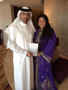 Ahmad bin Majid & Jessica lang in Dubai