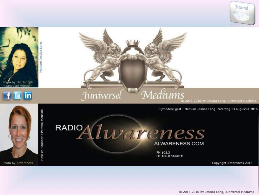 Jessica Lang, Juniversel, bij Radio Alwareness